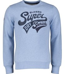 superdry sweater - slim fit - blauw