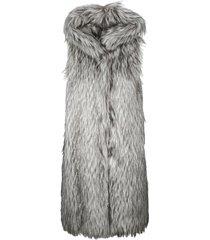 herno fur applique padded gilet