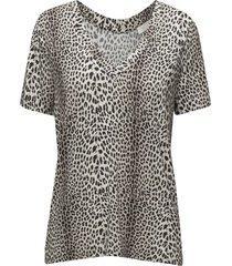 dallas t-shirt print blouses short-sleeved multi/mönstrad notes du nord