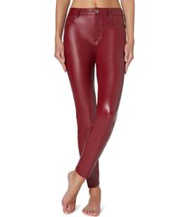 pantaloni effetto pelle termici