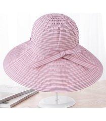 sombrero para mujer, l sol del verano del las sombrero-rosa