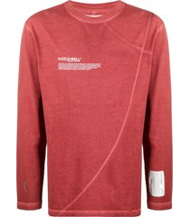 a-cold-wall* long-sleeve flatlock cotton t-shirt - red