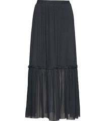 karin maxi skirt lång kjol svart just female