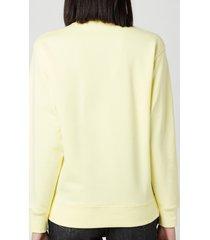 kenzo women's tiger crest classic sweatshirt - vanilla - l