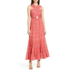 women's ulla johnson karima metallic cutout maxi dress