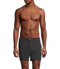 flat-front logo swim shorts