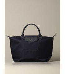 longchamp handbag le pliage nèo longchamp bag in nylon with logo