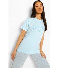 oversized san francisco t-shirt, light blue