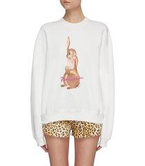 bunny print sweatshirt