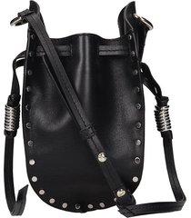isabel marant radji shoulder bag in black leather