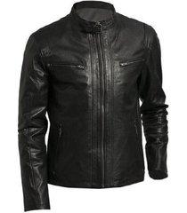 mens classic black leather jacket, men black biker leather jacket, mens jackets