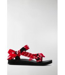 arizona love scarf-tied flat sandals