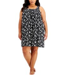 charter club plus size floral-print chemise nightgown, created for macy's