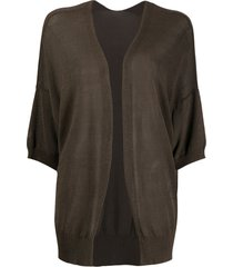 p.a.r.o.s.h. 3/4 sleeve relaxed-fit cardigan - green