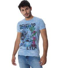 camiseta osmoze genesis 20 110112719 azul - azul - feminino - dafiti