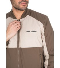 chaqueta para hombre doble combinación café beige dreamer