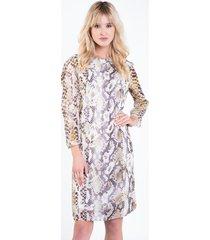 szyfonowa sukienka w wężowy wzór