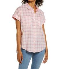 women's nydj camp shirt, size x-large - pink