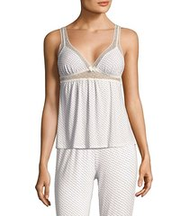 flora ditsy highline camisole