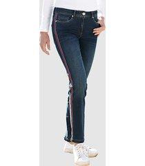 jeans dress in dark blue::rood