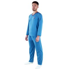 pijama manga longa boyou calça blusa comprida 009 azul claro