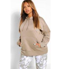 plus boyfriend hoodie, khaki