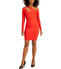bar iii asymmetrical neckline-cutout dress, created for macy's