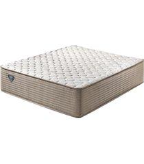 colchão king size com molas superlastic high spring bege 193x203x33 - ecoflex