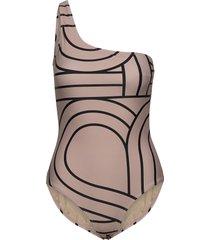 nordhavn -shoulder swimsuit baddräkt badkläder beige second female