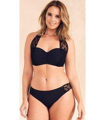 icon spot mesh black underwire halter bikini top d-g