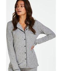 hunkemöller hellångt pyjamasset grå