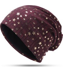 womens mens star warm soft cotton bonnet hats winter outdoor leisure beanie cap casual