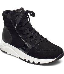 woms boots höga sneakers svart tamaris