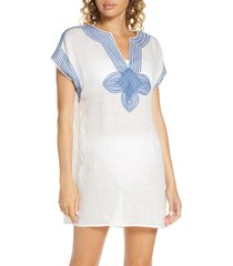 women's tory burch embroidered cover-up tunic