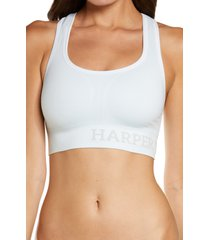 harper wilde the move sports bra, size 3x-large in ice at nordstrom