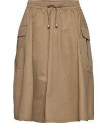 akaris skirt knälång kjol brun résumé