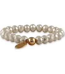 pulsera de perlas blancas buckley london