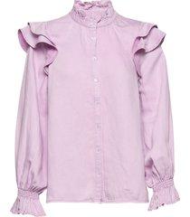 bella ls shirt blouse lange mouwen paars second female