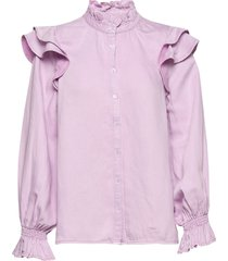 bella ls shirt blouse lange mouwen paars second female