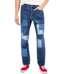 sun + stone men's jude loose-patch jeans, created for macy's