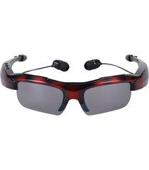 audífonos inalámbricos, sport riding eyes glasses bluetooth manos libres  4.0 stereo headset conducir llamada de música manos libres gafas de sol inteligentes para android ios smartphones y todos los dispositivos (army red)