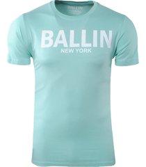 ballin est. 2013 heren t-shirt ronde hals regular fit mint groen