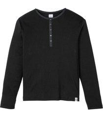 maglia serafino a maniche lunghe. (nero) - john baner jeanswear