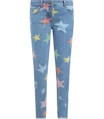 stella mccartney kids light blue jeans for girl with stars