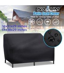 1-2seater impermeable apilamiento 210d de alta densidad de nylon oxford cubierta de la silla al aire libre patio muebles de jardín de almacenamiento - dos personas en 54x38x29