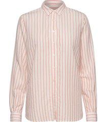 kayla fine stripe shirt långärmad skjorta rosa mos mosh