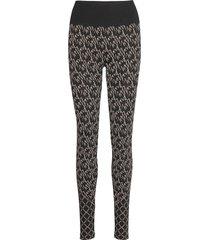 aurora monogram leggings lingerie socks svart wolford