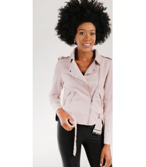 chaqueta gamuza corta rosado jessy night concept