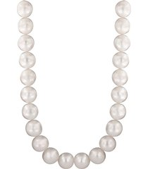 10mm freshwater pearls 925 sterling silver necklace