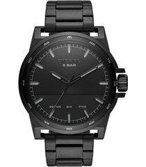 diesel men's d48 black stainless steel bracelet watch 48mm